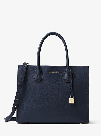 7212247cc59f Mercer Large Pebbled Leather Tote Bag | Michael Kors