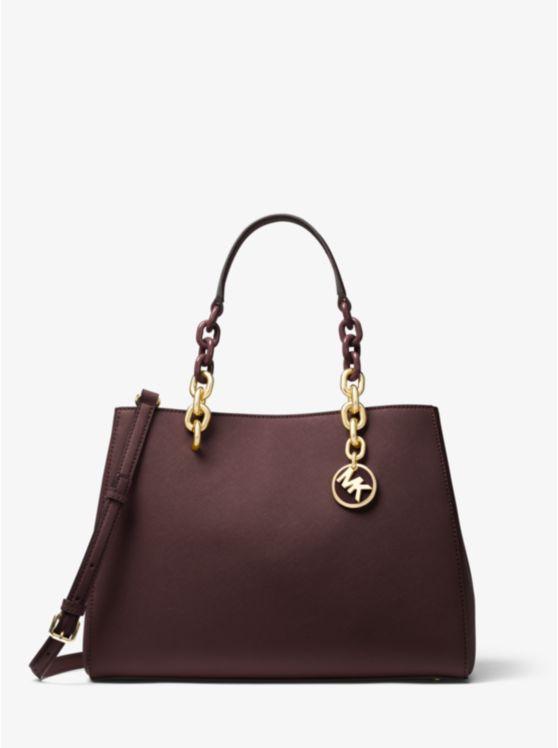 Bolso satchel Cynthia de piel saffiano