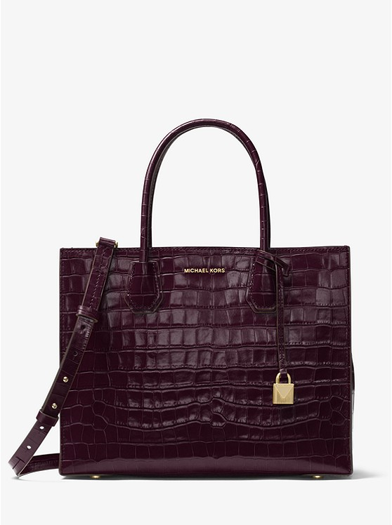 Mercer Embossed-Leather Tote