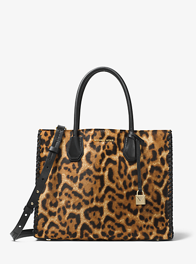 QUICKVIEW �� michael michael kors �� Mercer Leopard Calf Hair Tote