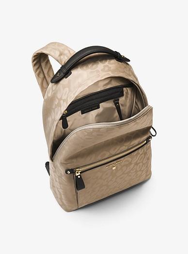 7f51a5e6d38c34 Kelsey Large Leopard Nylon Backpack | Michael Kors