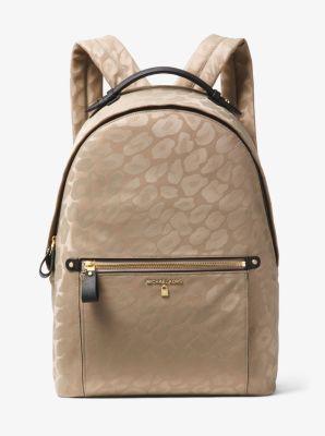 6d7409706101 ... get kelsey large leopard nylon backpack michael kors 1064e db47d