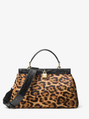 gramercy leopard calf hair frame satchel michael kors. Black Bedroom Furniture Sets. Home Design Ideas