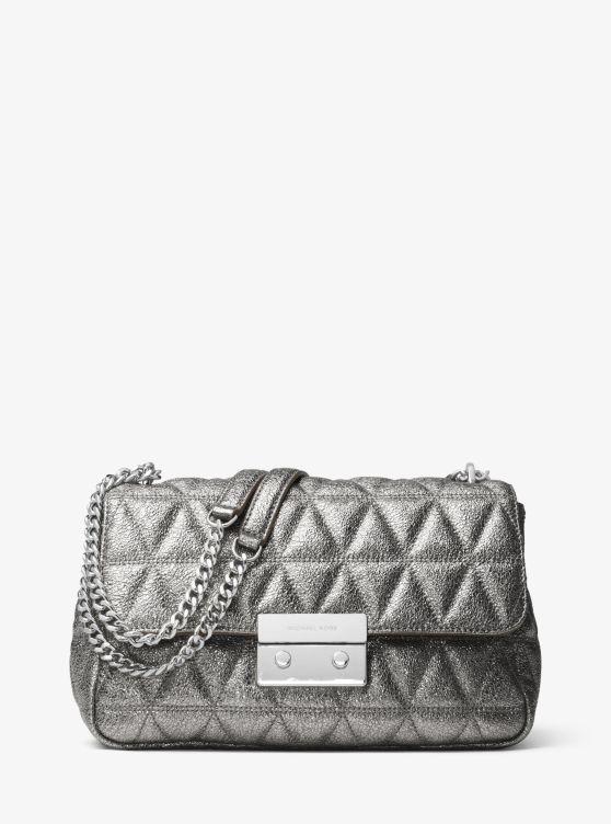 Sloan Metallic Quilted-Leather Shoulder Bag