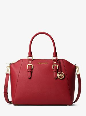 8a861fe35f59 Ciara Large Saffiano Leather Satchel | Michael Kors
