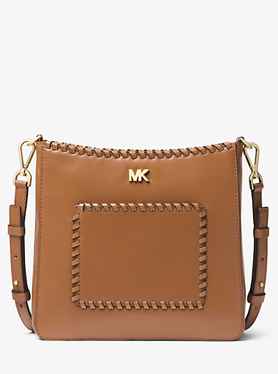 33116722c69a ... inexpensive gloria whipstitched leather messenger michael michael kors  gloria whipstitched leather messenger 1137d cb29a