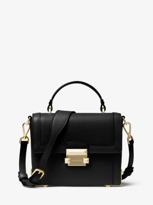 Jayne Small Pebbled Leather Trunk Bag by Michael Kors