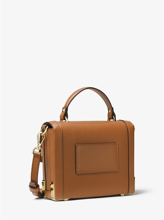 ed8cf97e661 Jayne Small Pebbled Leather Trunk Bag | Michael Kors