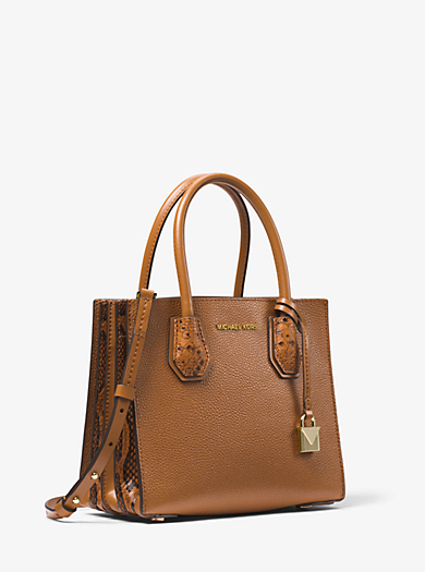 Mercer Pebbled and Embossed Leather Accordion Crossbody