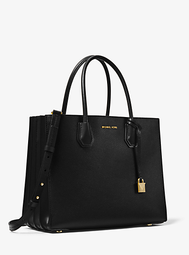 Mercer Large Pebbled Leather Accordion Tote