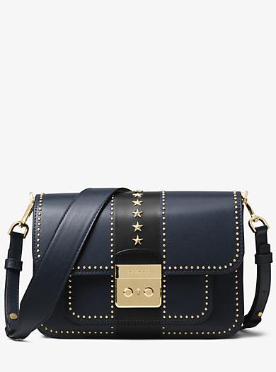 Sloan Editor Studded Leather Shoulder Bag Quickview Michael Kors