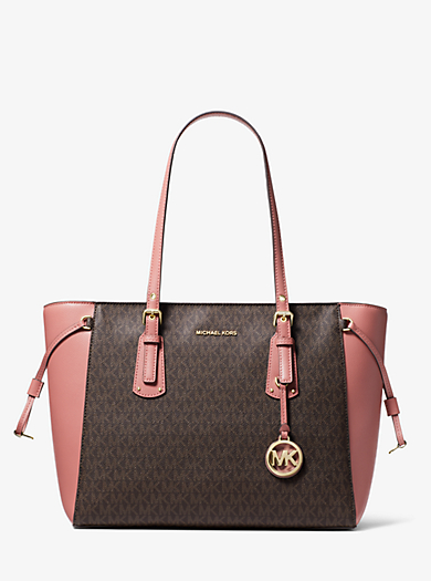 Voyager Medium Logo Tote Michael Kors