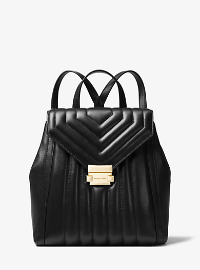 Whitney Quilted Leather Backpack Michael Kors