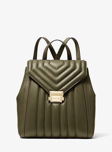 40e1090187d6 Whitney Quilted Leather Backpack | Michael Kors