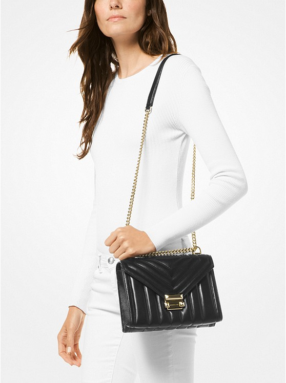 f996f9686047 ... Whitney Large Quilted Leather Convertible Shoulder Bag. MICHAEL Michael  Kors