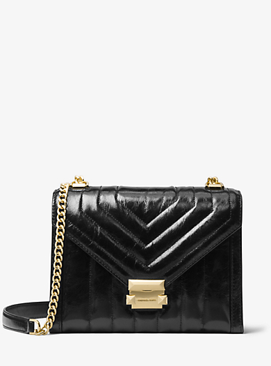 a585e7963369 Whitney Large Quilted Leather Convertible Shoulder Bag | Michael Kors