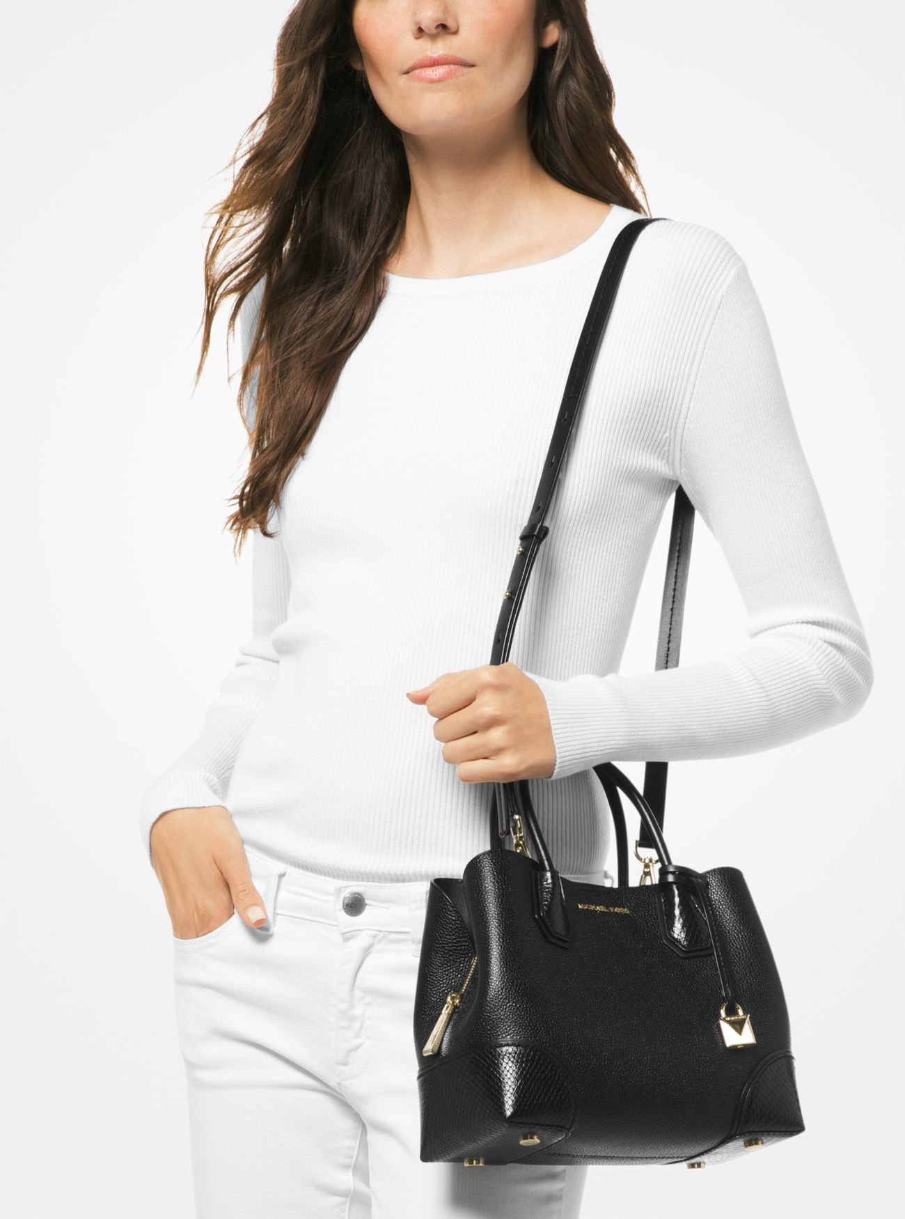 dc886522f899c ... Mercer Gallery Small Pebbled Leather Satchel