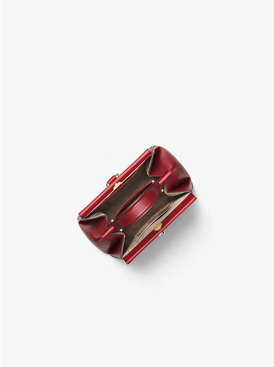 511e2a42b5db96 Gramercy Small Tri-color Leather Frame Satchel | Michael Kors