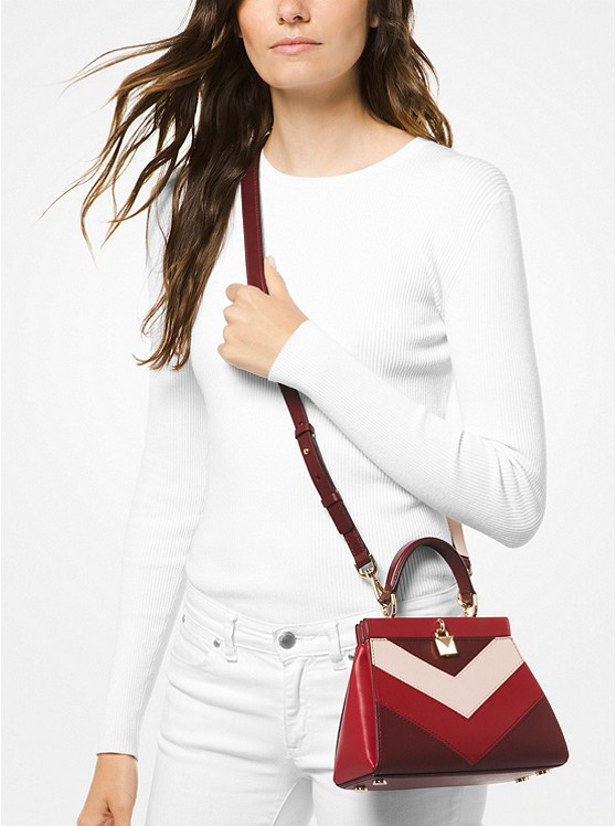 874bd350c679 Gramercy Small Tri-color Leather Frame Satchel | Michael Kors