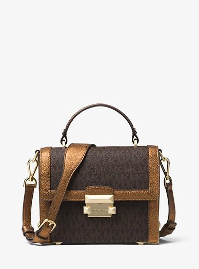 6ceb3465695 Jayne Small Logo And Leather Trunk Bag | Michael Kors