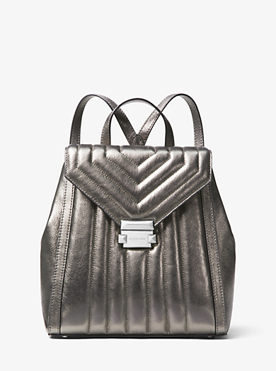 Whitney Quilted Metallic Leather Backpack
