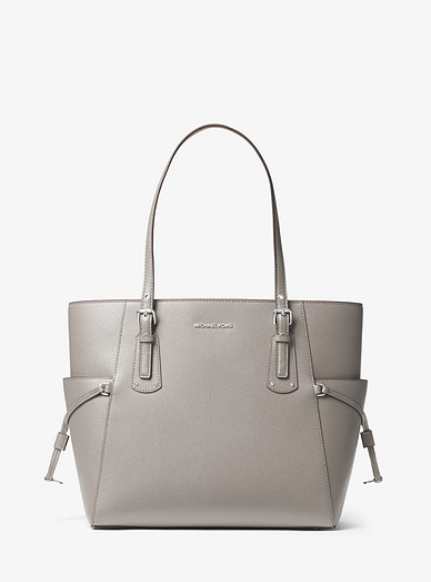 7c7147cf50841e Voyager Small Crossgrain Leather Tote Bag | Michael Kors
