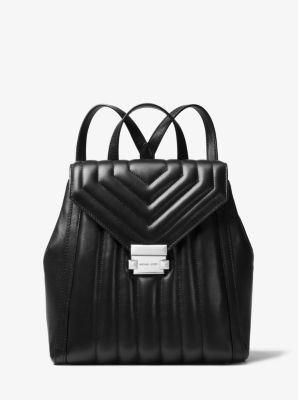 whitney quilted leather backpack michael kors rh michaelkors com