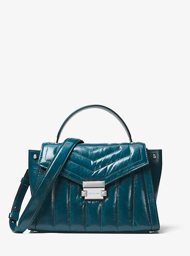 59f7e134c9680b Whitney Medium Quilted Leather Satchel | Michael Kors