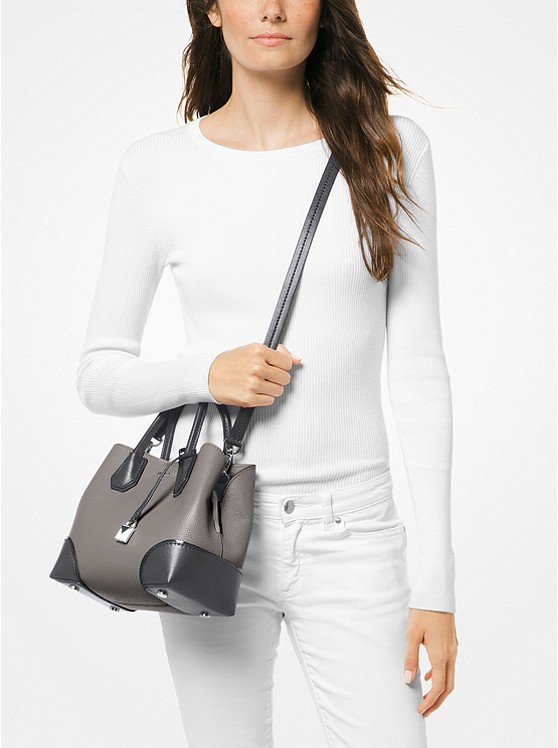 63e9a5fe54cd6 ... Mercer Gallery Small Color-Block Leather Satchel ...