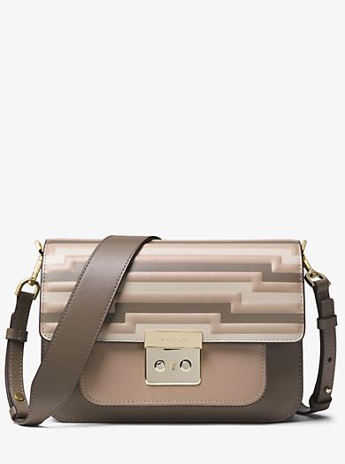 Sloan Editor Tri Color Leather Shoulder Bag Quickview Michael Kors