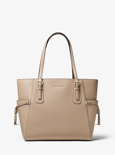 df599a17a2f6 Voyager Small Crossgrain Leather Tote Bag | Michael Kors