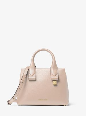 Rollins Small Pebbled Leather Satchel by Michael Michael Kors