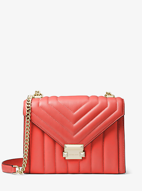 2a0dcc1a486e Whitney Large Quilted Leather Convertible Shoulder Bag | Michael Kors