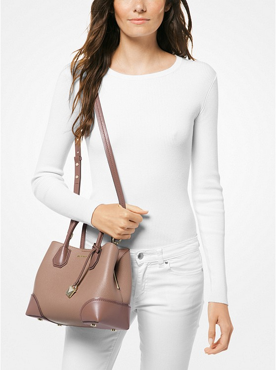 877b17ceb Mercer Gallery Small Color-block Leather Satchel | Michael Kors