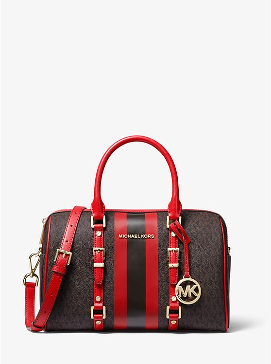 Bedford Travel Medium Logo Stripe Satchel