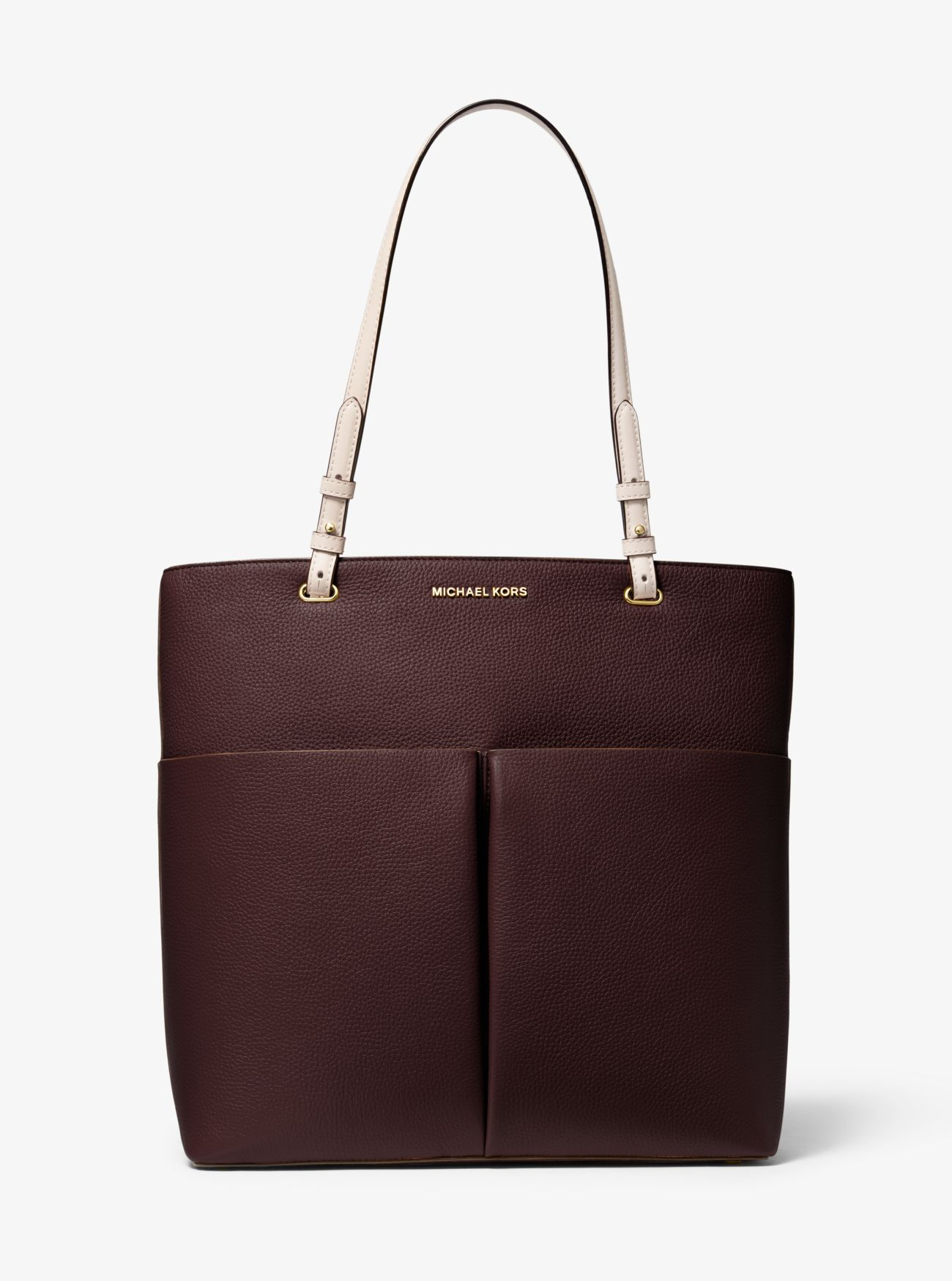 Shopper Bedford Large aus gekrispeltem Leder mit aufgesetzter Tasche