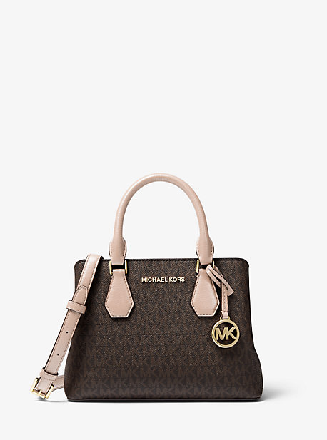 Camille Small Logo and Leather Satchel | Michael Kors