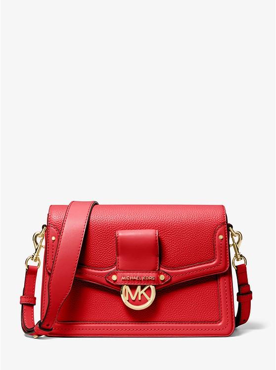 Jessie Medium Pebbled Leather Shoulder Bag