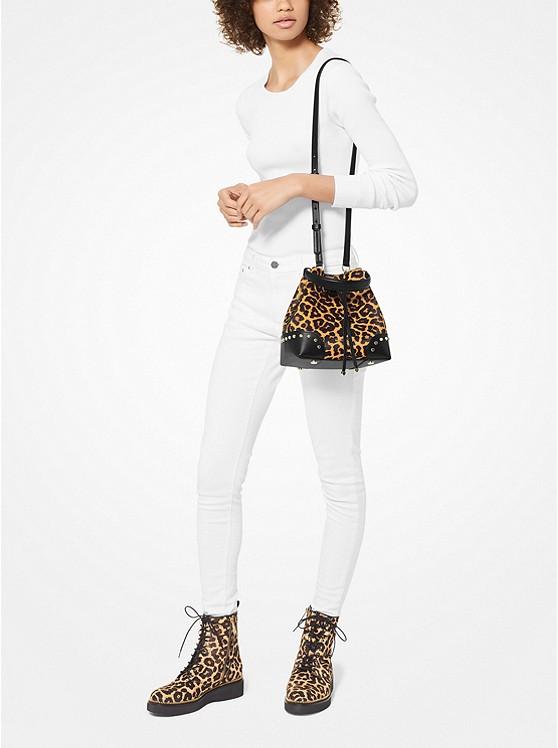 Mercer Gallery Small Leopard Calf Hair Shoulder Bag