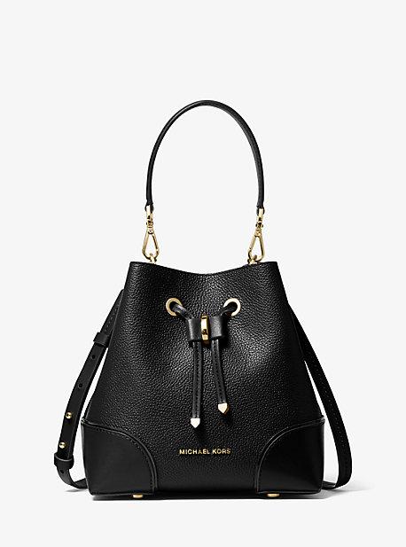 Mercer Gallery Small Pebbled Leather Shoulder Bag | Michael Kors