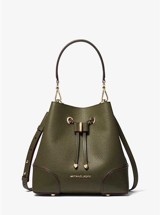 Michael Kors Mercer Gallery Small Pebbled Leather Shoulder Bag ...