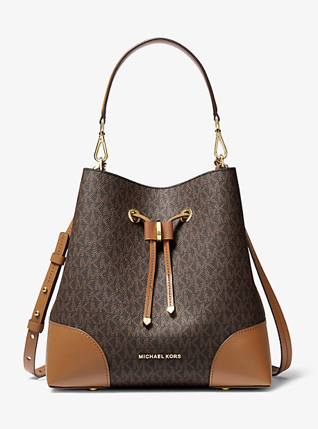 Mercer Gallery Medium Logo Shoulder Bag | Michael Kors