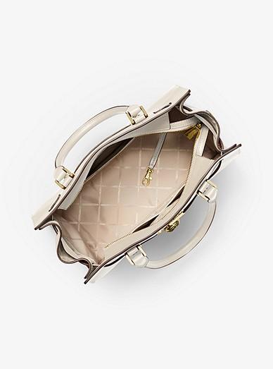 6ad898c81483c Nouveau Hamilton Large Pebbled Leather Satchel   Michael Kors