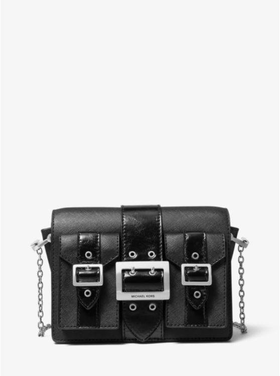 Hayden Medium Saffiano Leather Messenger Bag