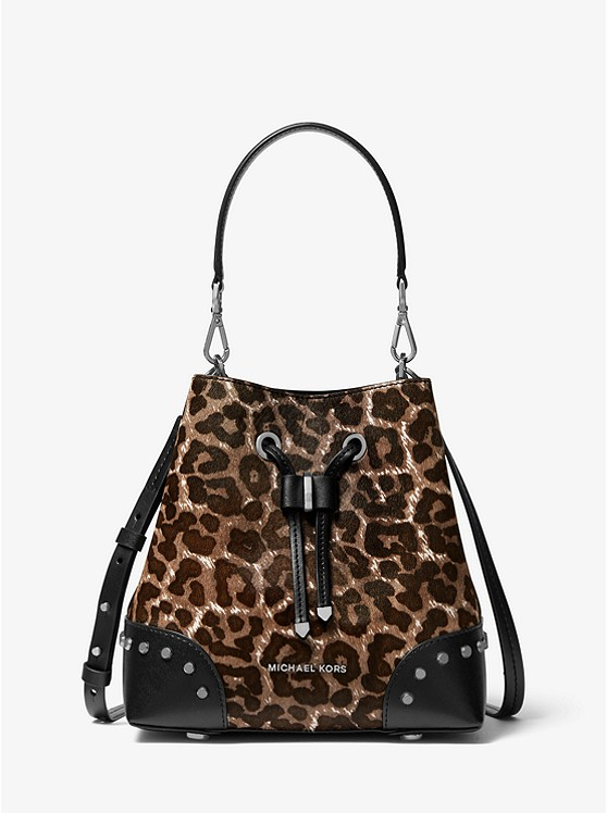Mercer Gallery Small Leopard Calf Hair Shoulder Bag