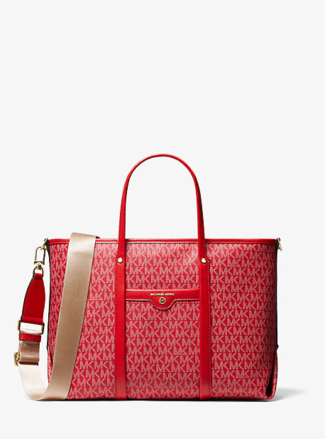 마이클 마이클 코어스 토트백 Michael Michael Kors Beck Medium Logo Tote Bag,BRIGHT RED
