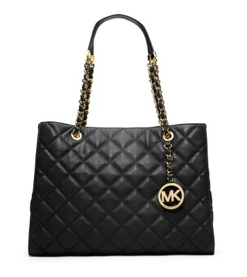 Susannah Quilted Leather Large Tote | Michael Kors : leather quilted purse - Adamdwight.com