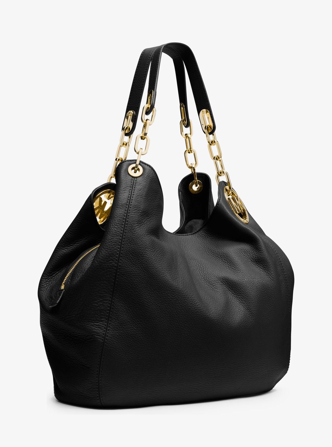 Fulton Large Leather Shoulder Bag | Michael Kors