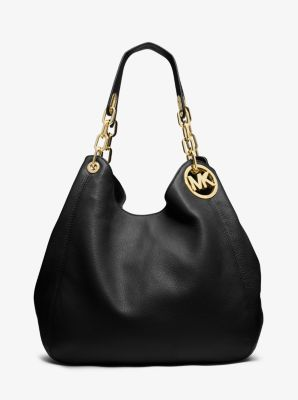 Fulton Large Leather Shoulder Bag Michael Kors