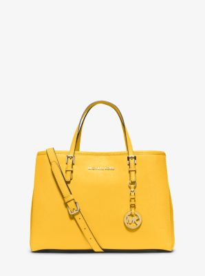 42339e24cf0e79 Jet Set Travel Saffiano Leather Medium Tote | Michael Kors